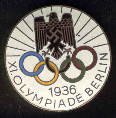 nazi olympic badge, nazi probably loved the olympics as an equal believer in genetic bullshittery.