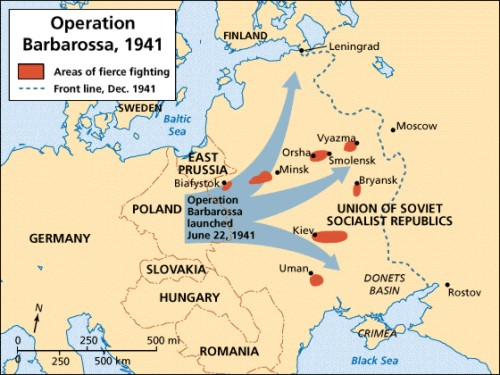 Russia In World War - Germany map world war 2